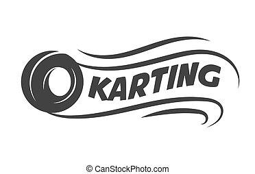 Karting club or kart races motor tire vector template icon -...