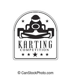 Karting Club Race Black And White Logo Design Template With...
