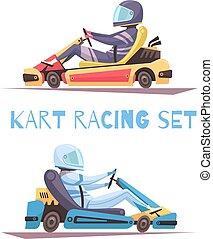 Karting Design Concept - Two kart racing participants...