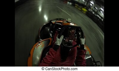 Karting from the first person.