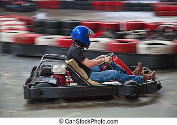 karting, interior
