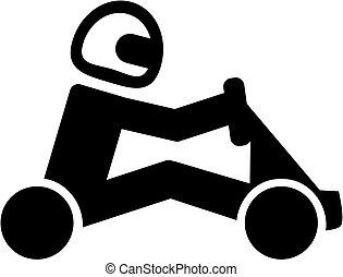 karting, pictogram