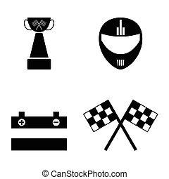 karting, set., アイコン