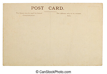kartka pocztowa, czysty