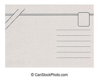 kartka pocztowa, odizolowany