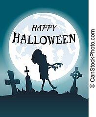 kartka pocztowa, straszliwy, halloween, gratulacje, szczęśliwy