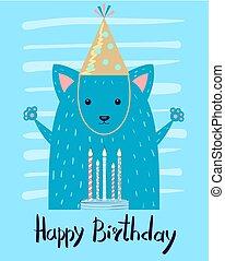 kartka pocztowa, szczęśliwe urodziny, gratulacje, świąteczny