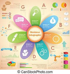 kartlägga, affär, infographics