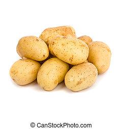 kartoffel, hvid baggrund