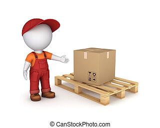 karton, box.