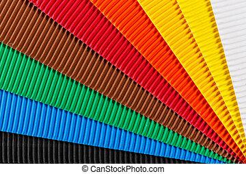 karton, kleurrijke, textuur