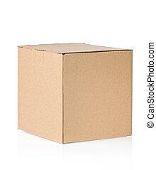 kartong kasse, isolerat, vita