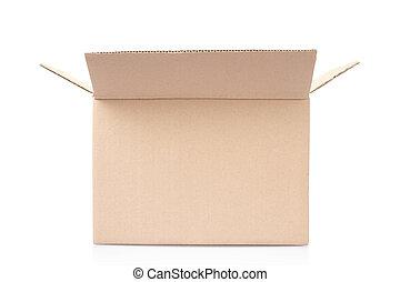 kartong kasse, isolerat, vita, snabb bana, included
