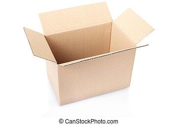 kartong kasse, tom, vita