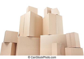 kartong kassera, lowen metar beskådar