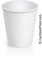 kartonpapír, üres, csésze