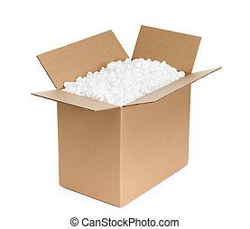 kartonpapír, konténer, kinyitott