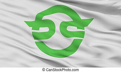 Kasai City Flag, Japan, Flag Prefecture, Closeup View - ...
