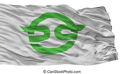 Kasai City Flag, Japan, Flag Prefecture, Isolated On White ...