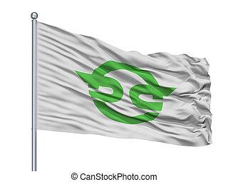 Kasai City Flag On Flagpole, Japan, Flag Prefecture, ...