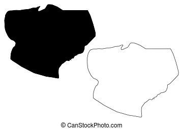 Kasai-Oriental Province map vector - Kasai-Oriental Province...