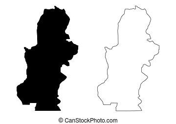 Kasai Province map vector - Kasai Province (Democratic ...