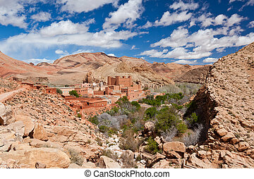 An ancient Kasbah in Dades Valley, south Maroc, Africa.