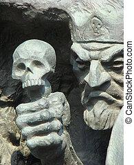 kashcey, escultura, inmortal