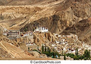kashmir, inde, lamayuru, ladakh, jammu, monastère