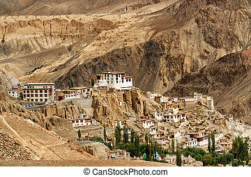 kashmir, indie, lamayuru, ladakh, jammu, klasztor