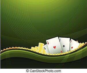 kasino, bakgrund, cambling, elementara