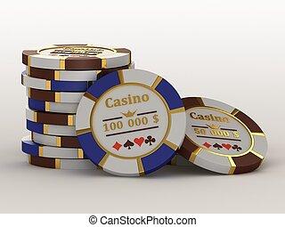 kasino, chips.