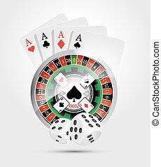 kasino, -, feuerhaken, gewinner