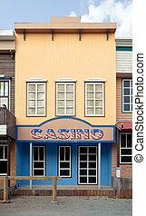 kasino, in, wilder westen, stil
