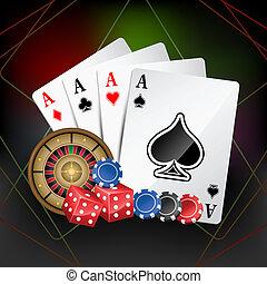kasino, kort