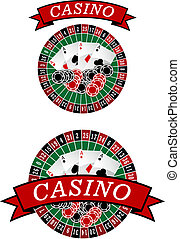 kasino, roulett, mit, gluecksspiel, elemente