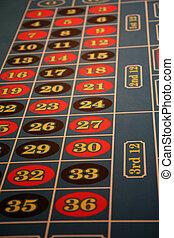 kasino, roulett tisch