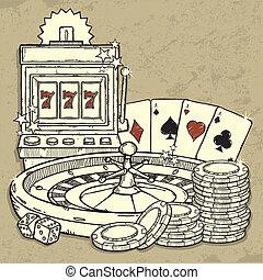 kasino, satz