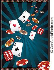 kasino, scheinwerfer