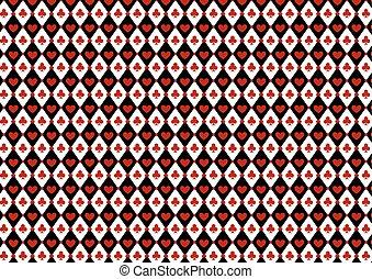 kasino, symbole, luxus, hintergrund, gluecksspiel, karte