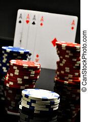 kasino, zusammensetzung, füllen