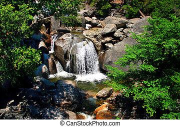 kaskada, narodowy park, w razie, yosemite