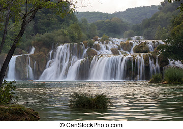 kaskaden, an, der, krka, nationalpark