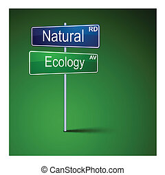 kasownik, droga, kierunek, poznaczcie., ekologia