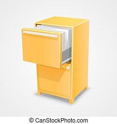 kassaskåp, dokument, skåp
