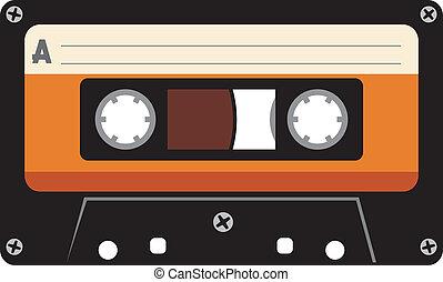 kassette, ton, band
