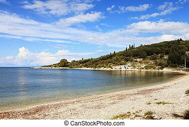 kassiopi, principal, praia