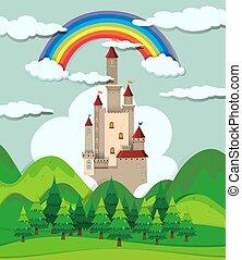kasteel, bos