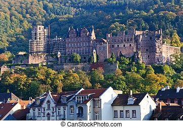 kasteel, duitsland, heidelberg