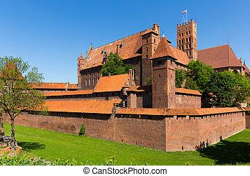 kasteel, erfenis, historisch, malbork